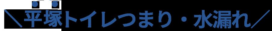 平塚市No,1のトイレつまり・水漏れ修理