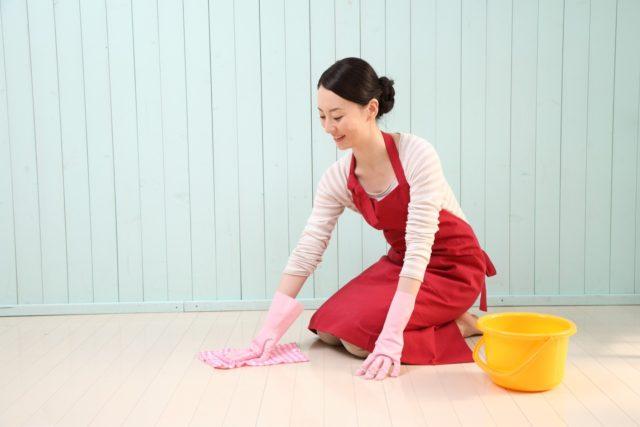 手袋と雑巾