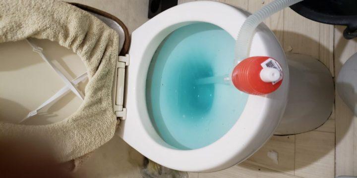 トイレつまり 灯油ポンプ